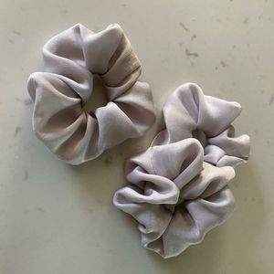 Handmade Gray Scrunchie